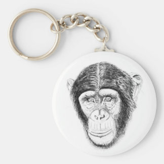 Chipanzee wildlife key ring