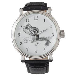 Chipmunk and Acorns Wrist Watch