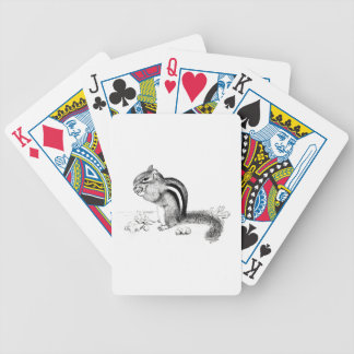 Chipmunk Bicycle Playing Cards