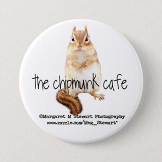 Chipmunk Cafe Logo 3 Inch Round Button