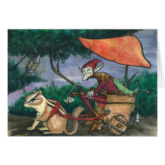 """""""Chipmunk Cart"""" Faerie Card"""