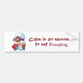 Chipmunk Dessert Chef Bumper Sticker