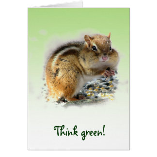 Chipmunk Earth Day Card