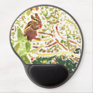Chipmunk eating a berry round mousepad