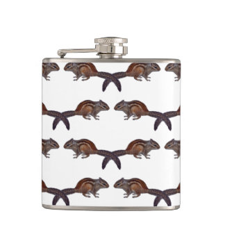 Chipmunk Frenzy Hip Flask (choose colour)