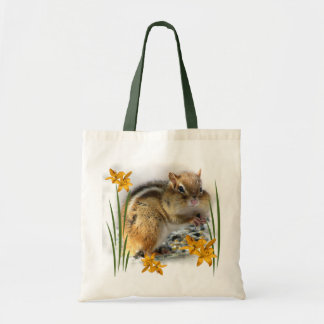 Chipmunk in Springtime Tote Bag