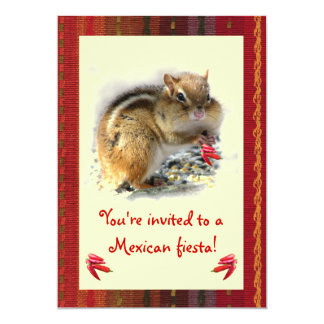 Chipmunk Mexican Fiesta Invitation