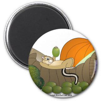 Chipmunk on Cornucopia Magnet