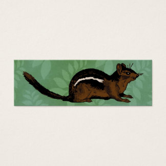 Chipmunk Painting Mini Business Card