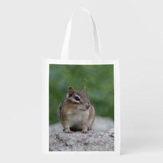Chipmunk Reusable Grocery Bag