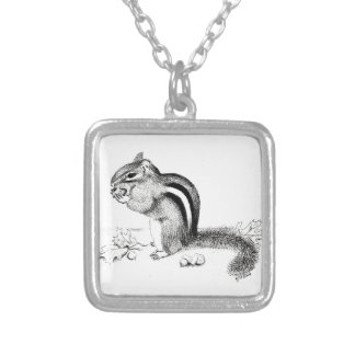 Chipmunk Silver Plated Necklace
