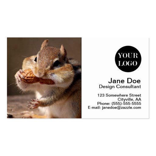 Chipmunk Stuffing His Face Business Cards