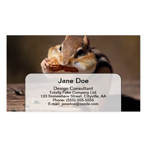 Chipmunk Stuffing His Face Business Card Template