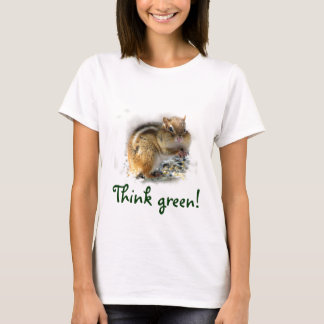 Chipmunk Think Green T-Shirt