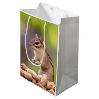 Chipmunk with peanuts medium gift bag