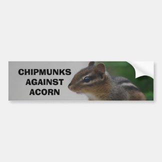 Chipmunks Against Acorn Bumper Sticker