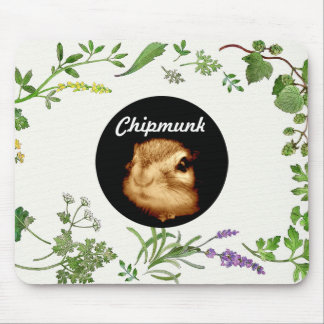 chipmunk's face (photograph) mouse pad