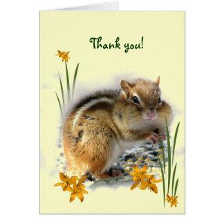 Chipmunk's Thank You Card