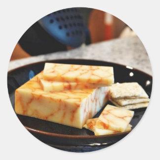 Chipotle Cheddar Cheese Round Sticker