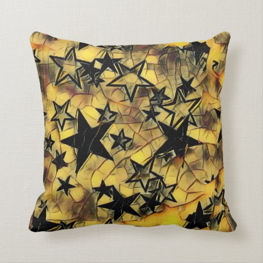 Chipped Away Yellow Galaxy Throw Pillow