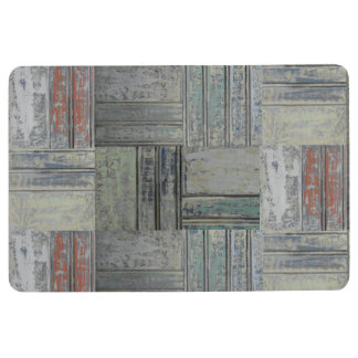 Chipped Paint Tongue and Groove Print Mat