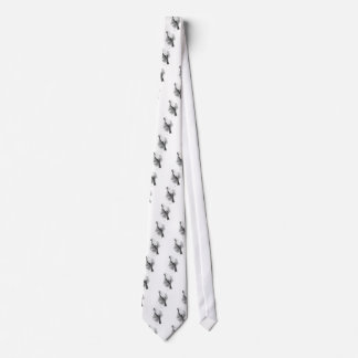 Chipper Canary Black and White Sketch Tie
