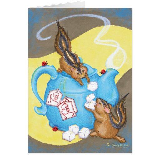 Chipper Tea / Birthday Greeting Card