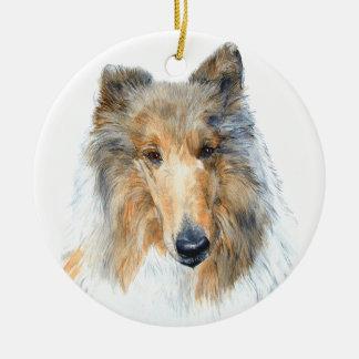 Chipper the Collie Ceramic Ornament