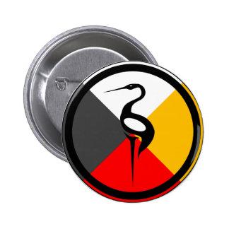 Chippewa Dodem Ajijaak 2 Inch Round Button