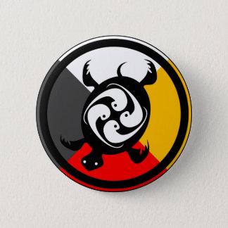 Chippewa Dodem Miskwaadesi 2 Inch Round Button