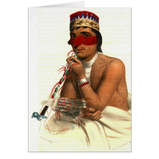 Chippeway Chief 1836 Card