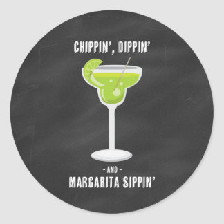 Chippin Dippin Margarita Sippin Stickers
