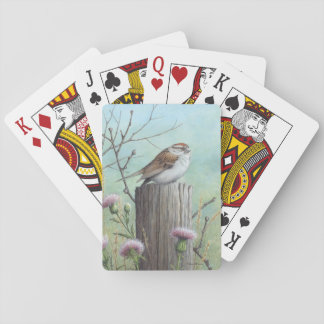Chipping Sparrow Playing cards
