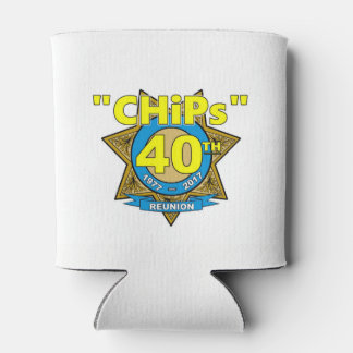 CHiPs 40th Anniversary cupholder Can Cooler