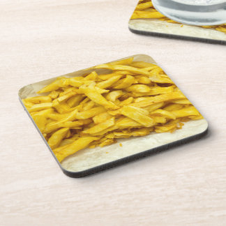 Chips Served in Paper Drinks Coasters