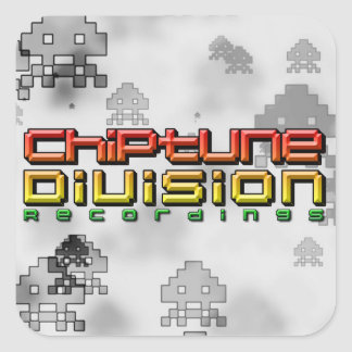 Chiptune Division Recordings Square Sticker