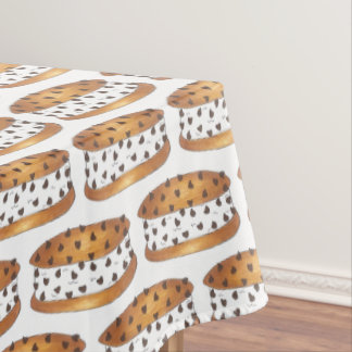 Chipwich Chocolate Chip Cookie Ice Cream Sandwich Tablecloth