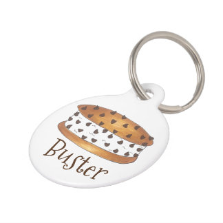 Chipwich Ice Cream Sandwich Personalized Dog Tag