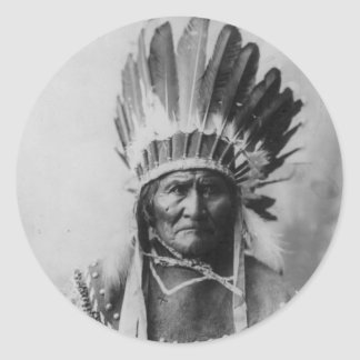 Chiricahua Apache Geronimo Goyathlay Goyahkla Classic Round Sticker