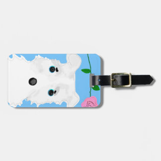 Chiro the dog Jack russell terrier Luggage Tag