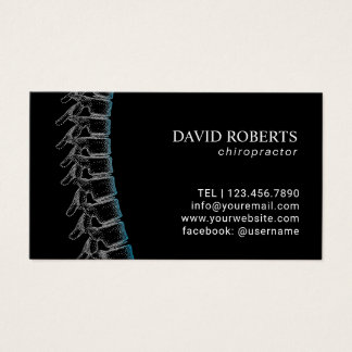 Chiropractic Chiropractor Spine Appointment Business Card