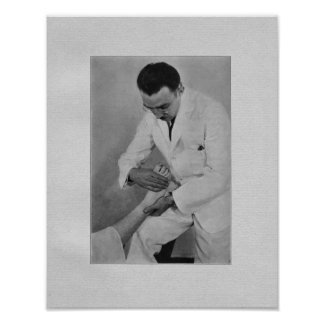 Chiropractic Extremity Adjustment Vintage Print