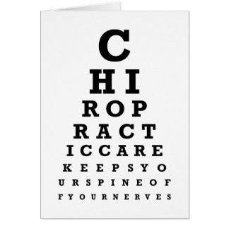 Chiropractic Eye Chart Message Note Cards