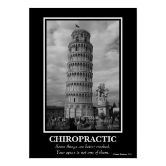 Chiropractic Poster - Leaning Tower of Pisa