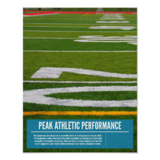 Chiropractic poster - peak performance for athlete