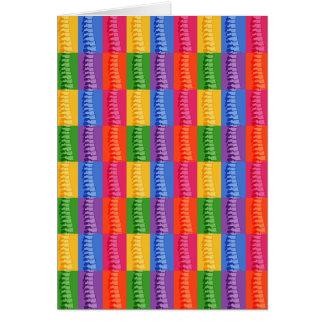 Chiropractic Spine Pop Art Note Cards