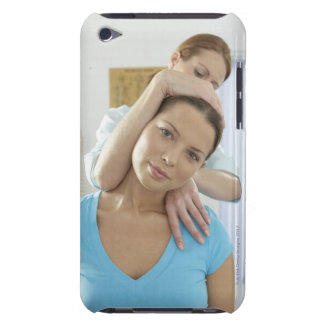 Chiropractic treatment. Chiropractor treating Barely There iPod Cases