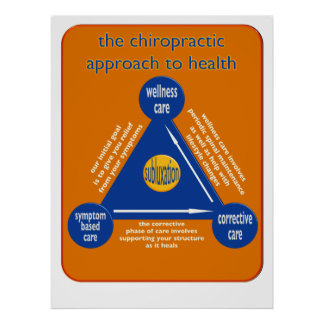 chiropractic types of care triangle poster