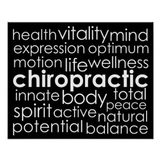 Chiropractic Word Collage Poster