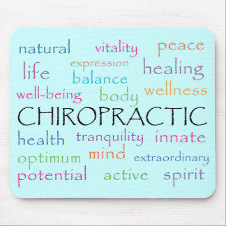 Chiropractic Words Mousepad